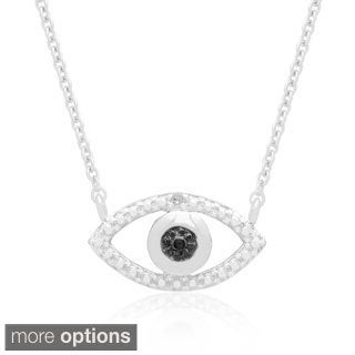 Finesque Diamond Accent Evil Eye Necklace