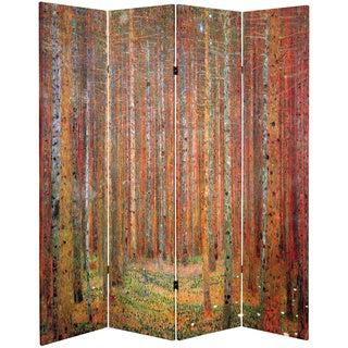 Double-sided Works of Klimt Tannenwald/Farm Garden Room Divider