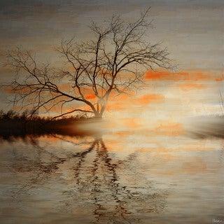 Parvez Taj 'Red Leafs B' Canvas Art