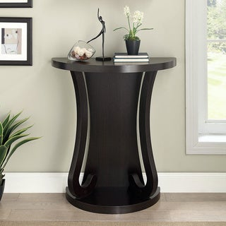 Cappuccino Finish Half Moon Entry Table