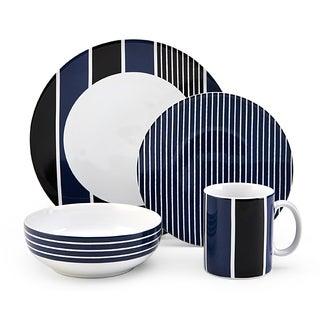 Nautica Knots Bay Navy 4-piece Dinnerware Set