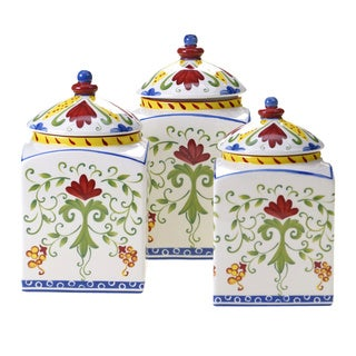 Amalfi 3-piece Ceramic Canister Set