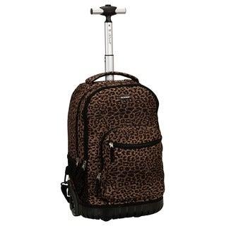 Rockland Leopard 18-inch Rolling Laptop Backpack