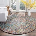Safavieh Handmade Nantucket Blue/ Multi Cotton Rug (9' x 12')