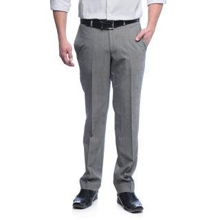 Kenneth Cole New York Men's Slim Fit Light Grey Wool Blend Pants