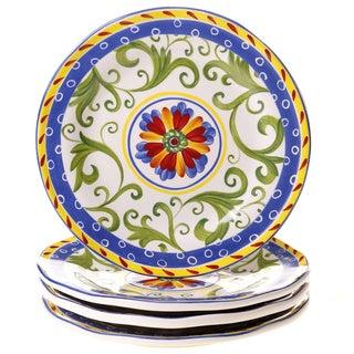 Amalfi 8.75-inch Ceramic Salad/ Dessert Plate (Set of 4)
