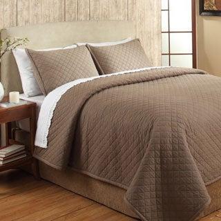 Cayden Brown Cotton 3-piece Quilt Set