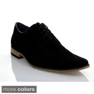 Mikoloti Men's Classic Square-toe Lace-up Oxford Shoes