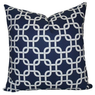Taylor Marie Chain Link Navy Pillow Cover