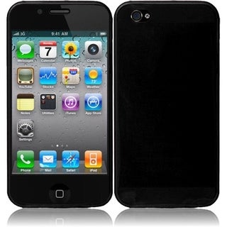 INSTEN Black TPU Rubber Candy Skin Phone Case Cover for Apple iPhone 4/ 4S