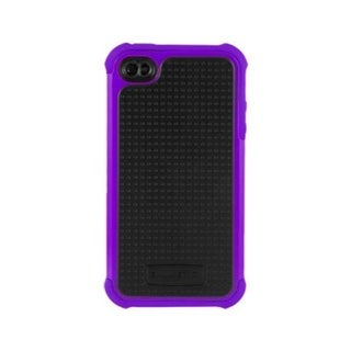 Ballistic Black/ Purple Tri-layered Protection SG Case for Apple iPhone 4/ 4S