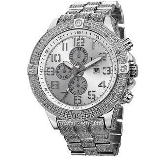 Joshua & Sons Men's Bold Multifunction Dazzling Bracelet Watch