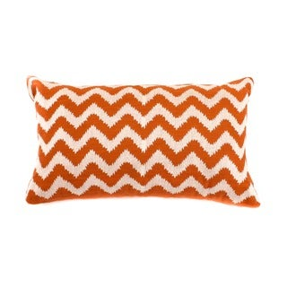 12 x 20-inch Rust Zig-zag Decorative Throw Pillow
