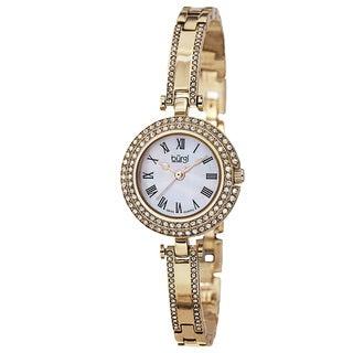 Burgi Women's Swiss Quartz MOP Dial Bracelet Watch