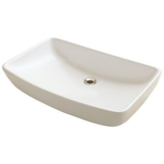 Polaris Sinks P053VB Bisque Porcelain Vessel Sink