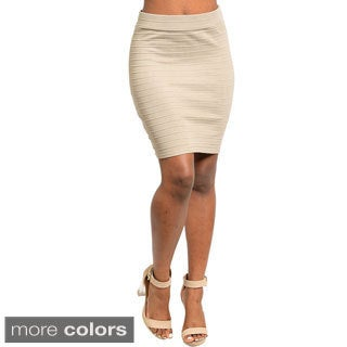 Stanzino Women's High Waist Stretch Skirt