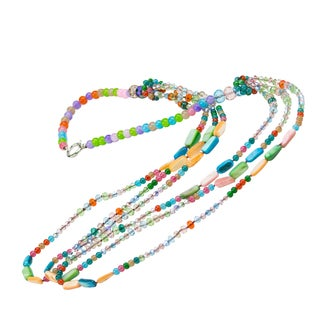 Neck Candy 'Spirit Glow' Mineral and Glass Beaded Necklace