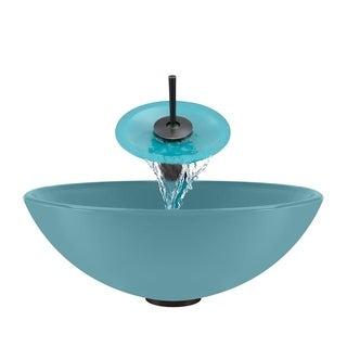 Polaris Sinks Turquoise/ Oil Rubbed Bronze 4-piece Bathroom Sink Ensemble