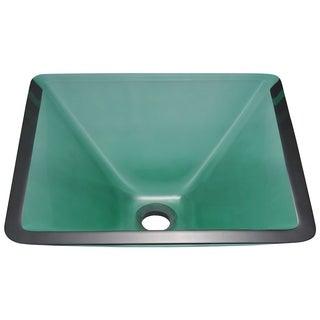 Polaris Sinks Emerald Colored Glass Vessel Sink