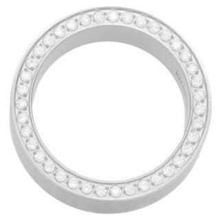 Oliveti Brushed Titanium Men's Cubic Zirconia Comfort Fit Wedding Band (8 mm)