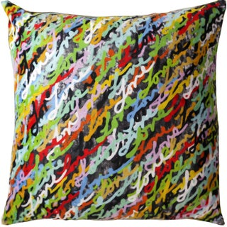 Maxwell Dickson Love Abundant 18-inch Velour Throw Pillow