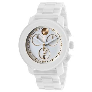Movado Bold 3600187 Chronograph White Ceramic Watch