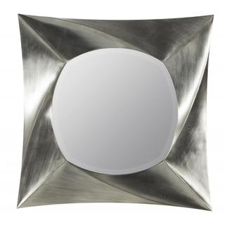 Tyrion Brushed Silver Geometric Beveled Mirror