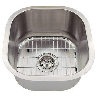The Polaris Sinks P6171 18-gauge Kitchen Ensemble (Sink, Standard Strainer, Sink Grid, Cutting Board)