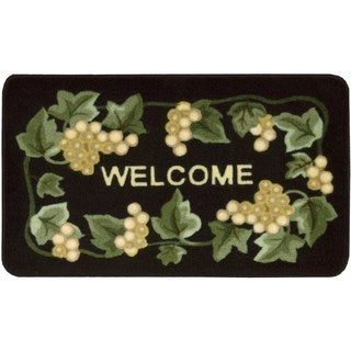 Nourison Accent Decor Black Welcome Rug (1'8 x 2'6)