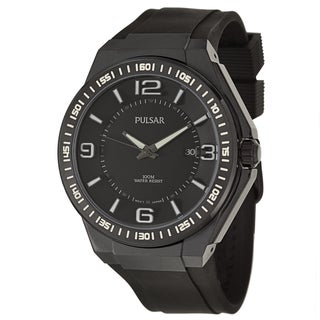 Pulsar Men's 'On The Go' Black Ion-plated Quartz Watch