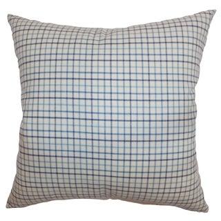 Jocko Blue Check 18-inch Throw Pillow