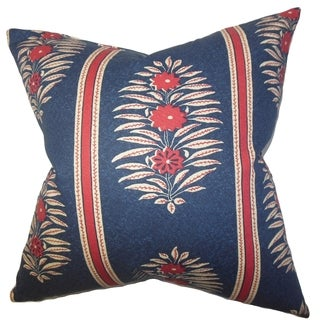 Ginevra Blue Floral 18-inch Down Filled Throw Pillow