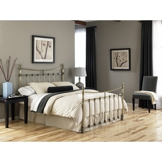Leighton King-size Antique Brass Bed