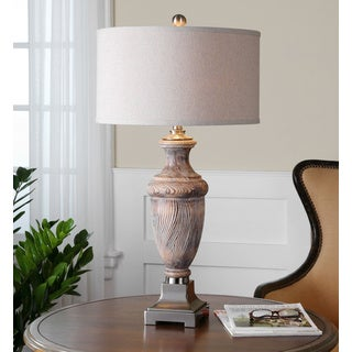 Uttermost Cabrini Burnished Wood Table Lamp