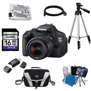 Canon EOS Rebel T3i DSLR Camera Body and EF-S 18-55mm f/3.5-5.6 IS II Lens 16GB Bundle