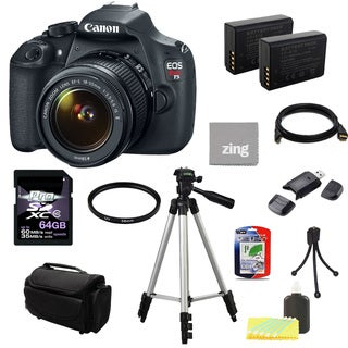 Canon EOS Rebel T5 DSLR Camera Body with EF-S 18-55mm IS II Lens 64GB Bundle