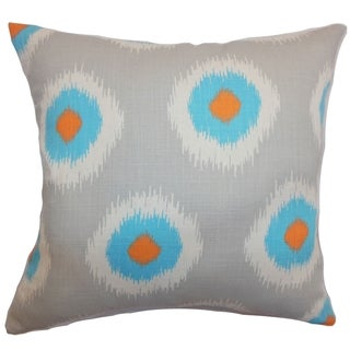 Paegna Ikat Chili Peppers Feather Filled 18-inch Throw Pillow