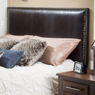 Christopher Knight Home Hilton Adjustable Bonded Leather Headboard