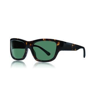 Raen Dorset Brindle Tortoise Sunglasses with Green Lenses