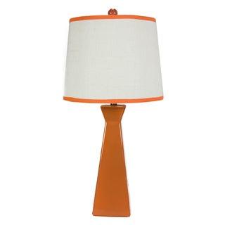 Somette Orange Ceramic Lamp with Coordinated Shade