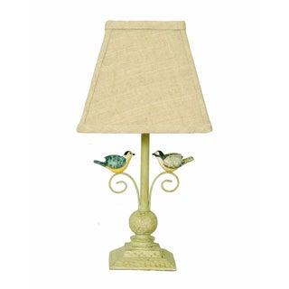 Somette Lovebird Base/ Beige Linen Shade Table Lamp