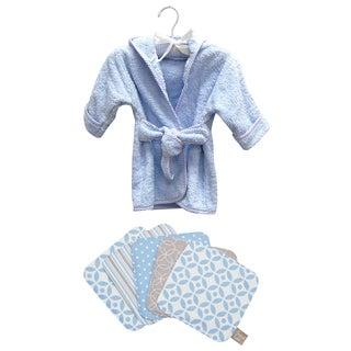 Trend Lab 6-piece Blue Bath Set Robe and Wash Cloth Set