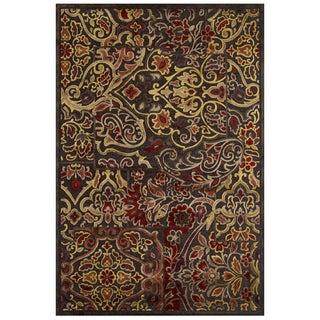 Feizy Granada Dark Chocolate Rust Rug (9'8 x 12'7)