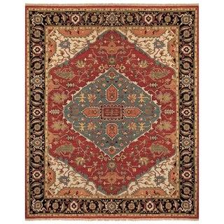 Feizy Ihrin Red Black Rug (8'6 x 11'6)
