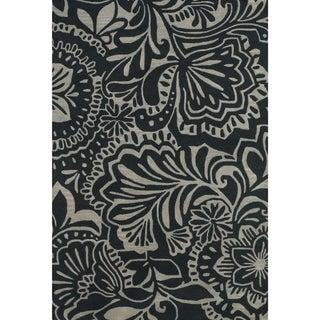 Feizy Terresa Grey Black Rug (8' x 11')