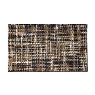ARTAJUL Handmade Basket Weave Brown Flat Soft Felt Wool Area Rug (6'5' x 9'8)