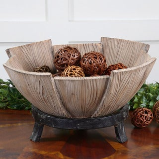 Uttermost Daruna Fir Wood Decorative Bowl