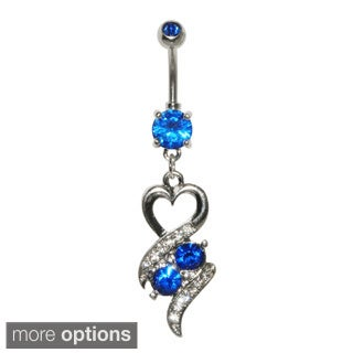 Supreme Jewelry Hearts and Stones Belly Ring