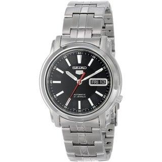 Seiko Men's 5 Silvertone Watch SNKL83K1