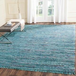 Safavieh Hand-woven Rag Rug Blue Cotton Rug (2' x 3')